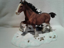 Anheuser Busch CLYD12 Clydesdale  Running Free Figurine