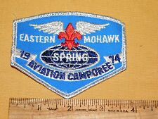 VINTAGE BSA BOY SCOUTS OF AMERICA PATCH 1974 EASTERN MOHAWK AVIATION CAMPOREE