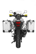"Touratech ZEGA Pro2 aluminum panniers ""Anodized Silver"" 31/38 litres with mounts"