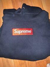 2009 Supreme Red Box Logo Navy Hoodie