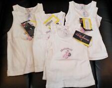 New Cherry Lane Baby Doll Girl's Infant Bundle Of 7 White Tanks Sz 3-24 Months