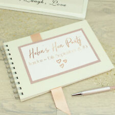 Personalised Rose Gold Hen Party Weekend Guest Book Album