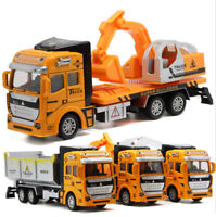 1:48 Alloy Truck Model Excavator Dump Truck Toys Concrete Car Xmas Gifts For Boy
