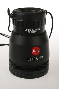 LEICA Camera Germany 5X Universal Loupe 37350 35mm Slide Viewer w/soft case