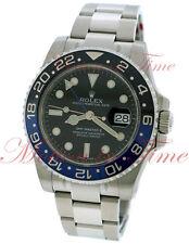 Rolex GMT Master II Black Dial Blue/Black Ceramic Bezel Stainless Steel 116710