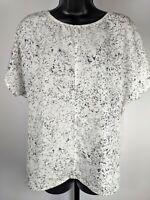 Calvin Klein Jeans White & Gray Speckled Short Sleeve Shirt Women's Size Medium