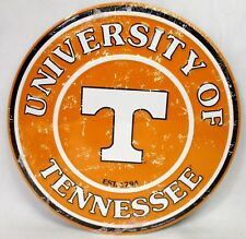 "12"" Round Novelty Sign Tennessee Volunteers Go Vols Distressed Big Orange NCAA"
