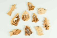 Set of 10/ Olive Wood Christmas Tree Ornaments Decoration Made in the Holy Land