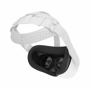 AMVR Head Back Padding Balance Cushion for Oculus Quest 2 VR Headset (White)