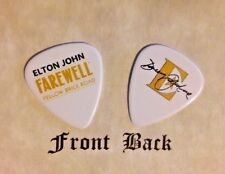 ELTON JOHN band Davey Johnstone signature FAREWELL tour logo guitar pick  - (Q)