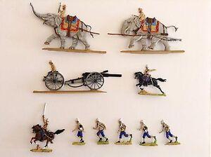 British Elephant Artillery 30mm Zinnfiguren Rieger Flats - Planos - Period 1890