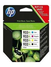 HP 932XL Noir avec 933XL Cyan/Magenta/Jaune Pack de 4 Cartouches d'Impression Jet d'Encre Thermique (C2P42AE)