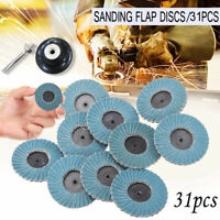 "31pcs Flap Discs 2""50mm Sanding Grit Grinding Wheels 40 60 80 Grit Angle Grinder"