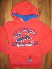C&A Kinder Jungen Pullover Kapuze Hoody Ultimate Spiderman ROT Gr. 122