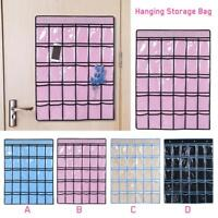 30 Pockets Clear Over Door Wall Home Hanging Bag Rack Hanger Organizer Storage