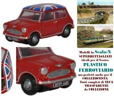 AUTO AUSTIN MINI MINOR VINTAGE ANNI '80 TARTAN RED UNION JACK in SCALA-N NMN001