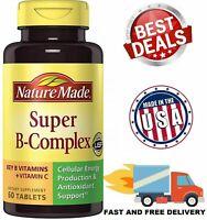 VITAMIN B COMPLEX Vitamin C B1 B2 B3 B6 Folic Acid B12 Boost Energy Antioxidant