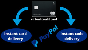 VCC Virtual Credit Card For Paypal Verification #Instant card and #Code Delivery