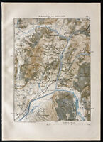 1880 - Old Map of the Outlet of the Tarentaise/Albertville