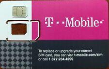 Used T-Mobile Nano Sim Card for Bypass Unlock Procedure Test or Insert Sim Alert