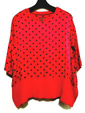 Red s polka dots loose top