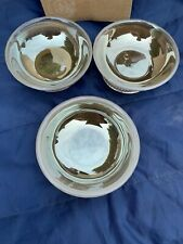 New listing Arte Italica Set Of 3 New Glass And Pewter Dipping Bowls . Hh5