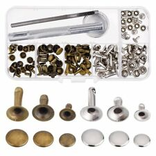 Rivets Single Cap Rivet Tubular Metal Studs With Fixing Tool Kit for Leathe C9j1