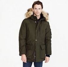 J CREW MEN'S HOODED NORDIC PARKA COAT JACKET THINSULATE  XL DARK CYPRESS E1315