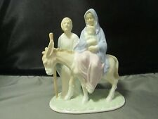 Valencia collection by Roman - Joseph & Mary Flight into Egypt figurine 1984