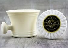 Men's Shaving Soap With Off White Shaving Mug. Perfect for all Type Of Shave.
