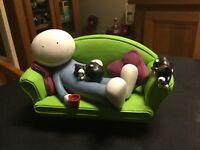 Doug Hyde - Two Cats Are Better Than One sculpture boxed with COA