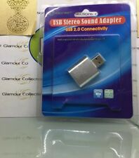 IOCrest USB to Audio Adapter Convert PC USB Port into a Stereo Sound Card (K1)