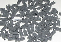 Lego Lot of 50 New Dark Bluish Gray Plates Modified 1 x 2 with Clip Parts