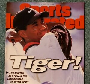 TIGER WOODS FIRST SPORTS ILLUSTRATED COVER! 28 OCTOBER 1996 - GOLF LEGEND