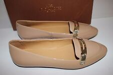 NIB COACH Size 6 Women's Warm Blush 100% Patent Leather RUTHIE Flat Loafer
