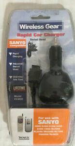 Wireless Gear Cc4508 Rapid Car Charger Sanyo 4900 5300 8100 5400 5500 7200 More