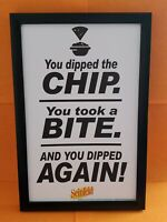 SEINFELD WALL ART DECOR GEORGE COSTANZA DIPPED THE CHIP TOOK A BITE DIPPED AGAIN