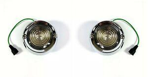 Pair Back Up Reverse Light Lamp Assembly For 1960-1966 Chevrolet Pickup Trucks