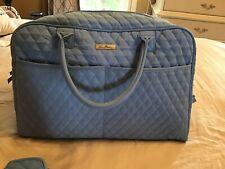 Vera Bradley Luggage Blue WEEKENDER Travel Bag with Jewelry case
