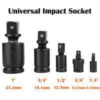 "1"" 1/2"" 1/4"" 3/4"" 3/8"" Universal Joint Swivel Wobble Socket Kit Impact Adapter"