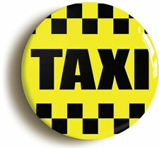 NEW YORK YELLOW TAXI BADGE BUTTON PIN (Size is 1inch/25mm diameter)