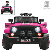 Jeep Style 12V Electric Kids Ride On Car w/ Remote control, Facelift Grille