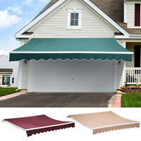 Patio Manual Retractable Deck Awning Sun Shade Shelter Canopy Outdoor