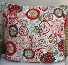LARGE CUSHION COVER 60 X 60 WILDFLOWER RED, DAYBED FLOOR COUCH OR OUTDOOR