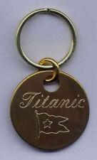 Titanic Brass Keyring NEW