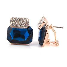 DISTINTIVO Deep inchiostro blu diamante con strass borchie Crystal Orecchini E540