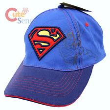 Super Man Shield Logo Kids Hat Adjustable Baseball Cap