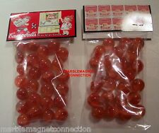 2 BAGS OF CAMPBELL'S TOMATO SOUP 5 CENTS LOGO ADVERTISING PROMO MARBLES
