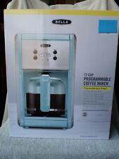 NRFB Bella ROBIN EGG BLUE 12 Cup Programmable COFFEE MAKER MIB