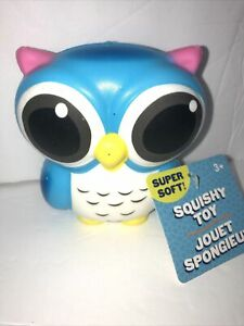 """JUMBOW Cute 4"""" """"BLUE OWL"""" Slow Rising Squishes Scented TOY Tagged"""